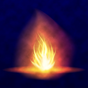 Vector burning bonfire. Hot flickering flame with sparks. Tongues of flame. Flicker of a torch. Bright burning effect of a candle.