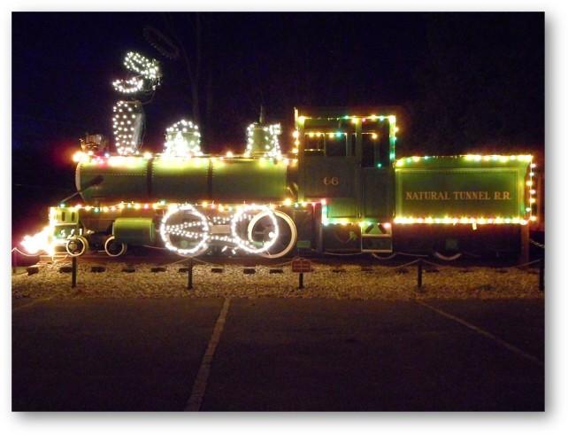 Train Christmas lights_Natural Tunnel RR at VA St Parks