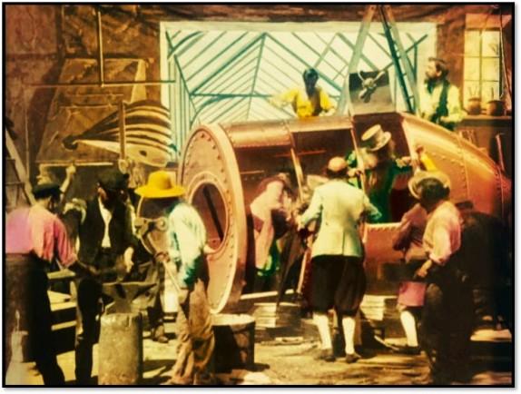 Workshop scene, Trip to the Moon, 1902 Wikipedia